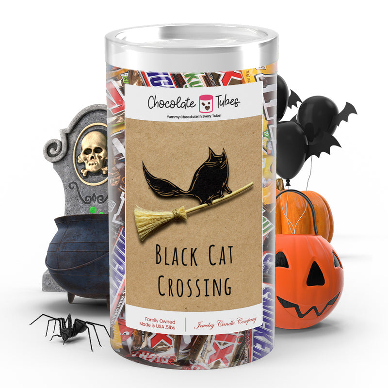 Black cat crossing Chocolates