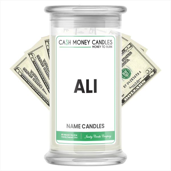 ALI Name Cash Candles