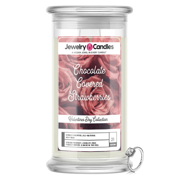 Chocolate Covered Strawberries Jewelry Candle