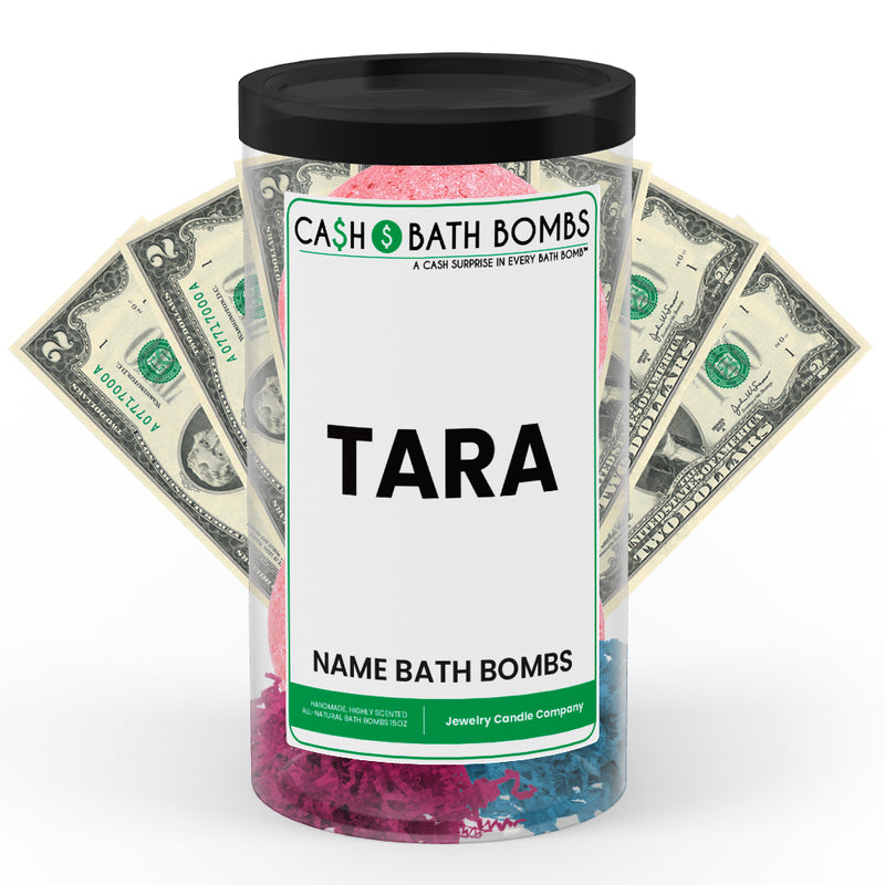 TARA Name Cash Bath Bomb Tube