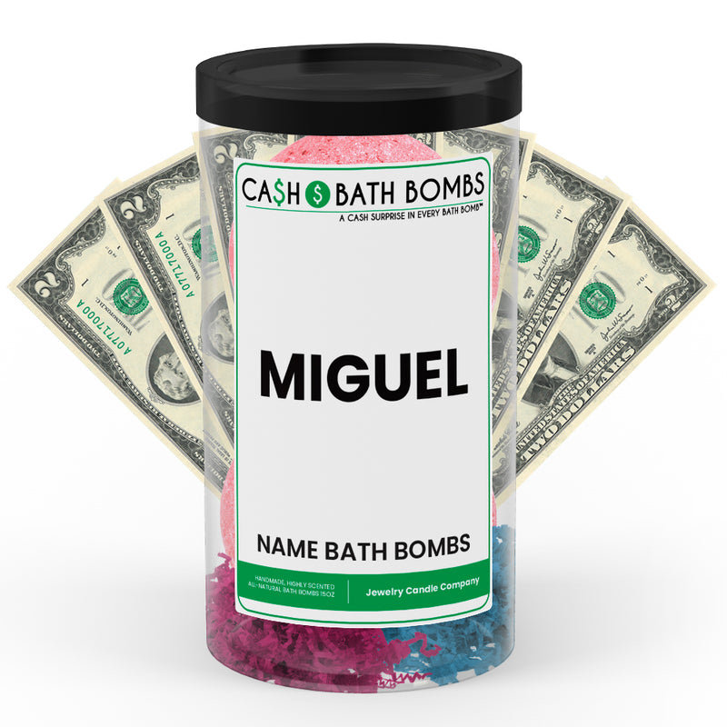 MIGUEL Name Cash Bath Bomb Tube