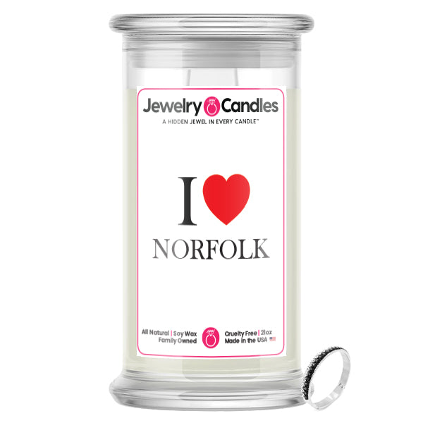 I Love NORFOLK Jewelry City Love Candles