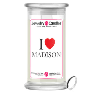 I Love MADISON Jewelry City Love Candles