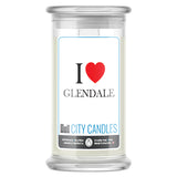 I Love GLENDALE Candle