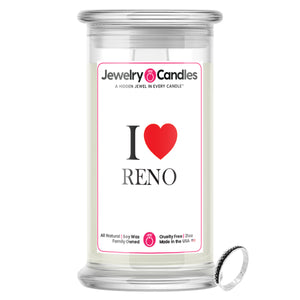 I Love RENO Jewelry City Love Candles