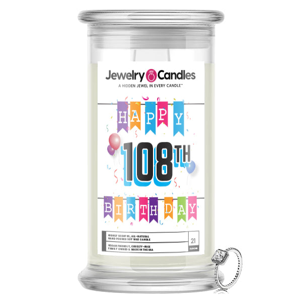 Happy 108th Birthday Jewelry Candle