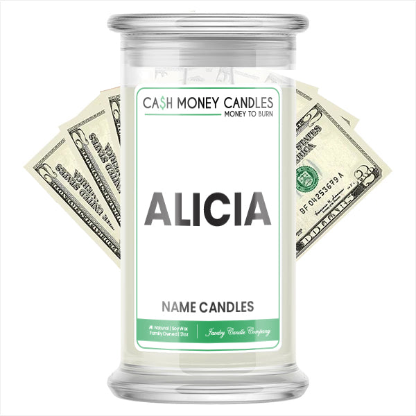 ALICIA Name Cash Candles