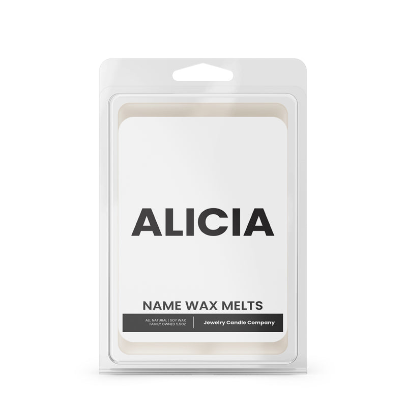 ALICIA Name Wax Melts