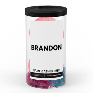 BRANDON Name Bath Bomb Tube