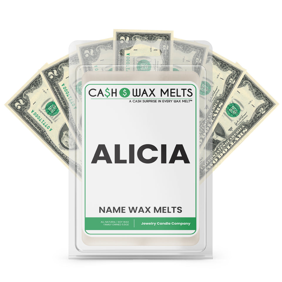 ALICIA Name Cash Wax Melts