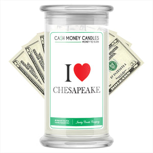I Love CHESAPEAK Candle