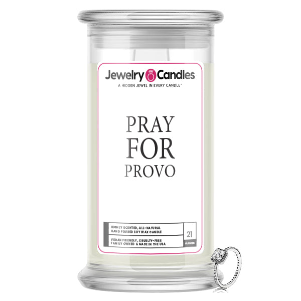 Pray For Provo Jewelry Candle