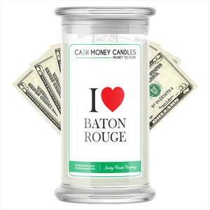 I Love BATONROUGE Candle