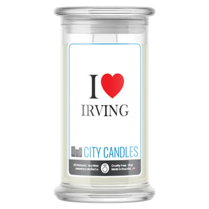 I Love IRVING Candle