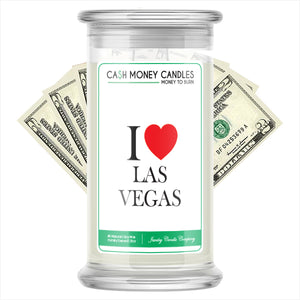 I Love LAS VEGAS Candle