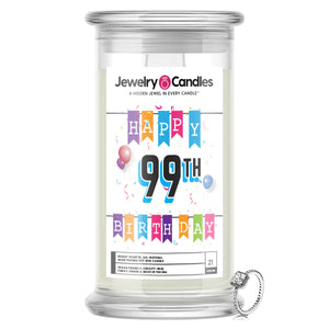 Happy 99th Birthday Jewelry Candle
