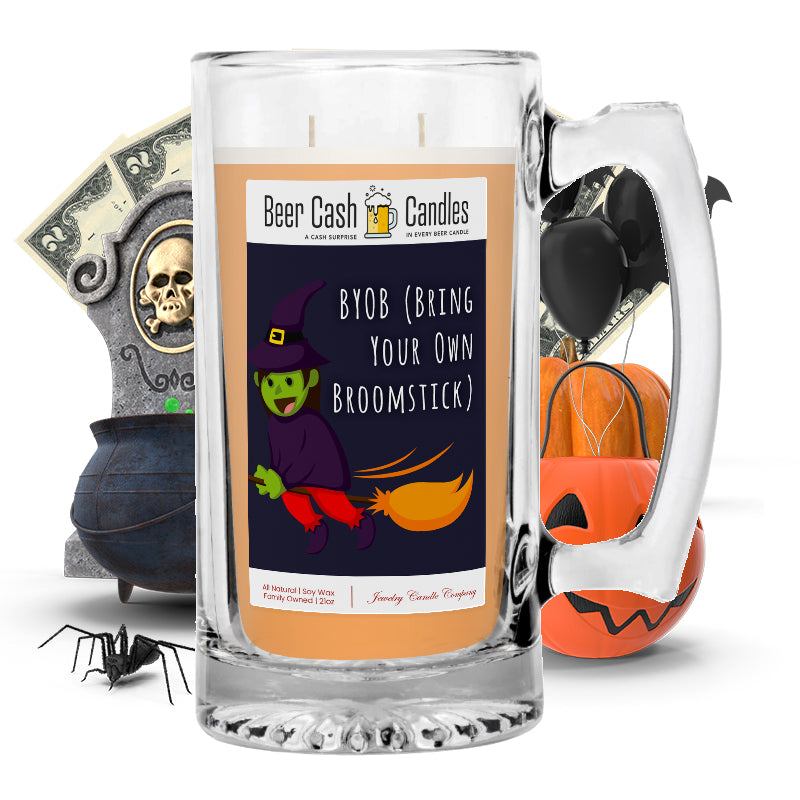BYOB (Bring your own broomstick) Beer Cash Candle