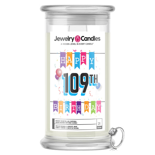 Happy 109th Birthday Jewelry Candle