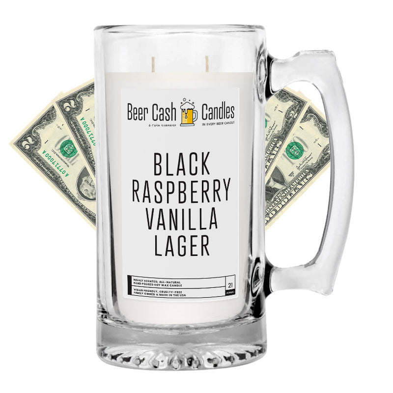 Black Raspberry Vanilla Lager Beer Cash Candle