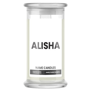 ALISHA Name Candles