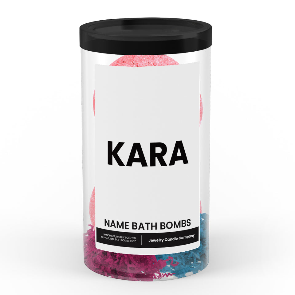 KARA Name Bath Bomb Tube