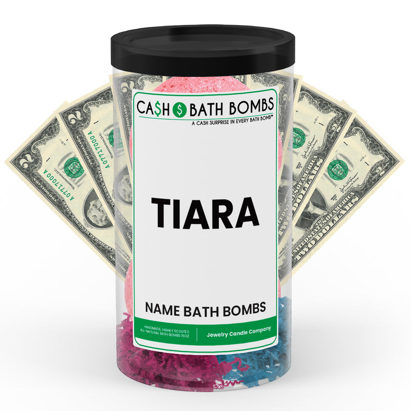 TIARA Name Cash Bath Bomb Tube