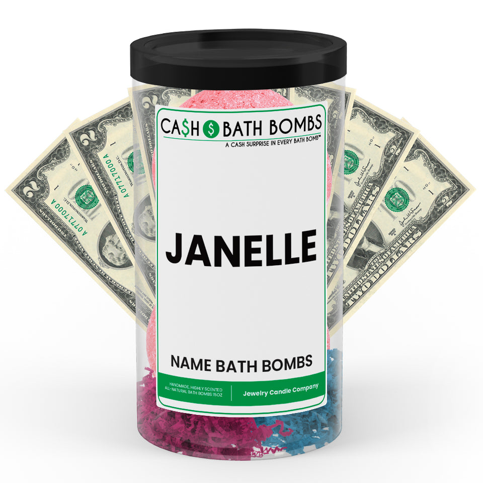 JANELLE Name Cash Bath Bomb Tube