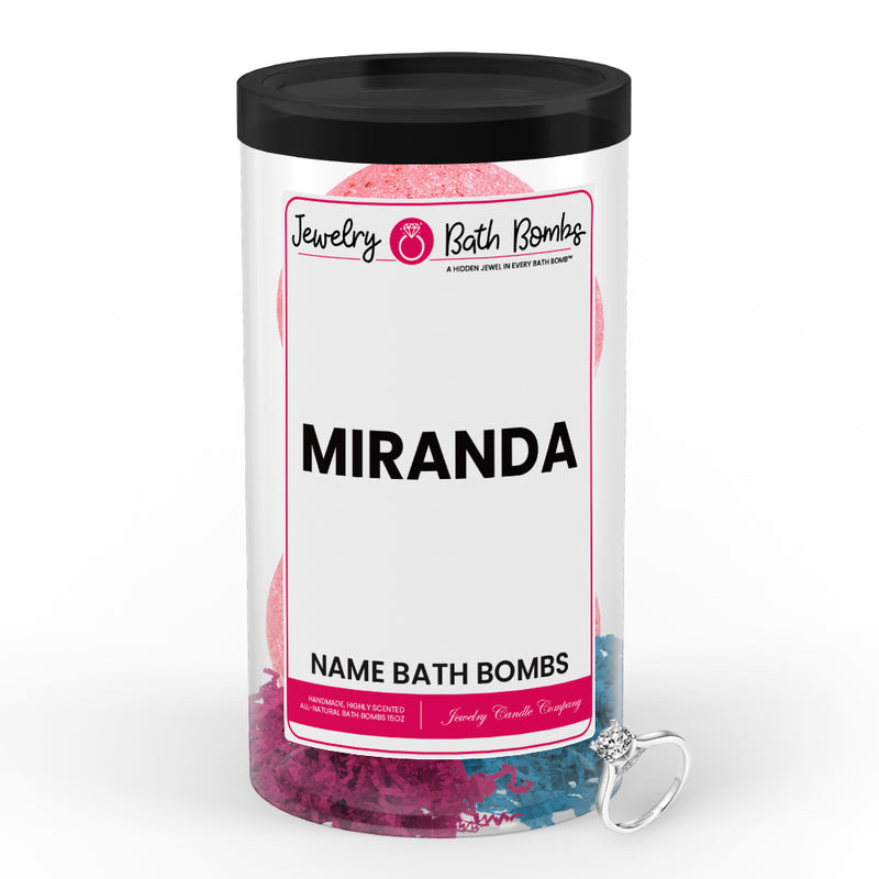 MIRANDA Name Jewelry Bath Bomb Tube