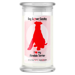 Airedale Terrier Dog Lover Candle