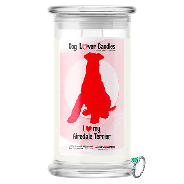 Airedale Terrier Dog Lover Jewelry Candle