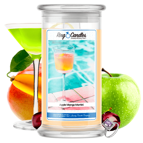 Apple Mango Martini Ring Candle