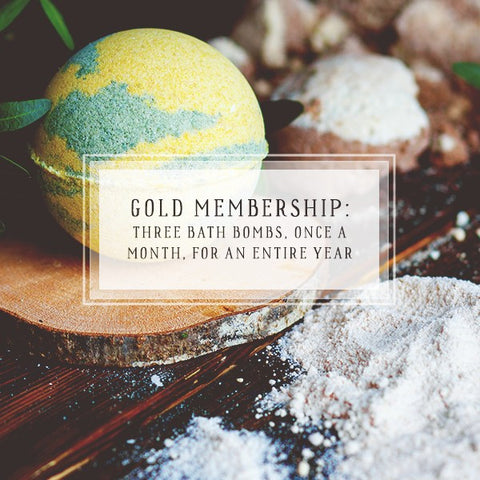 Bath Bomb Of The Month Club | Gold Package | Three Bath Bombs, Once A Month, For 12 Months-The Official Website of Jewelry Candles - Find Jewelry In Candles!