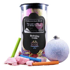 Birthday Cake | Jewelry Chalkboard Bath Bombs-Chalkboard Bath Bombs-The Official Website of Jewelry Candles - Find Jewelry In Candles!