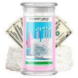 Birthday Cake Cash Money Candle