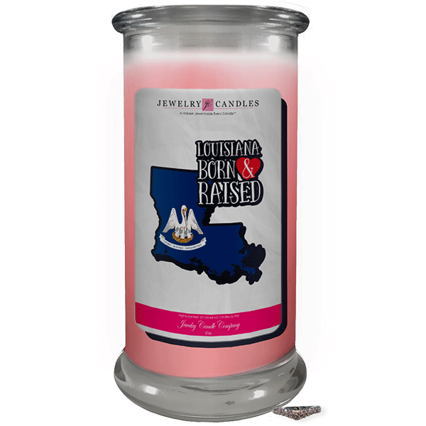 Louisiana | Born & Raised Candles-Born & Raised Candles®-The Official Website of Jewelry Candles - Find Jewelry In Candles!