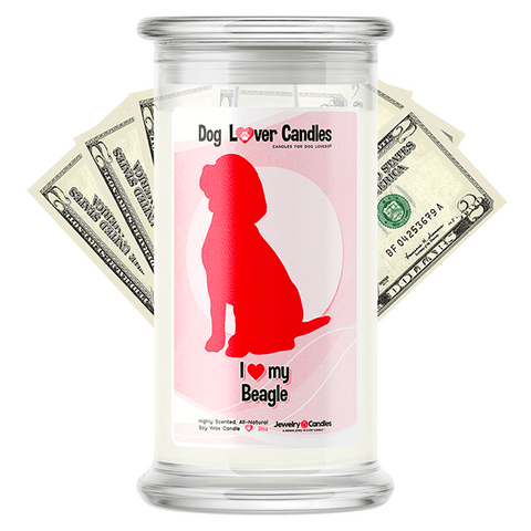 Beagle Dog Lover Cash Candle