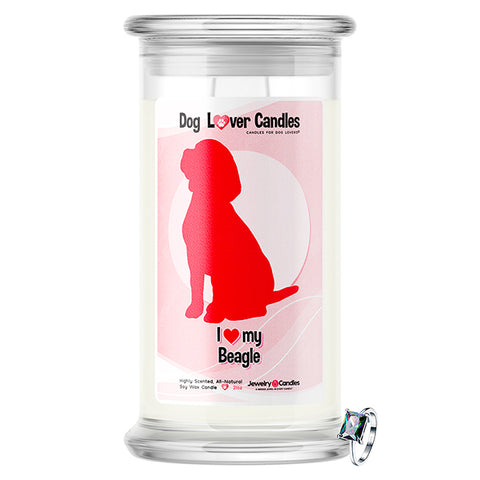Beagle Dog Lover Jewelry Candle