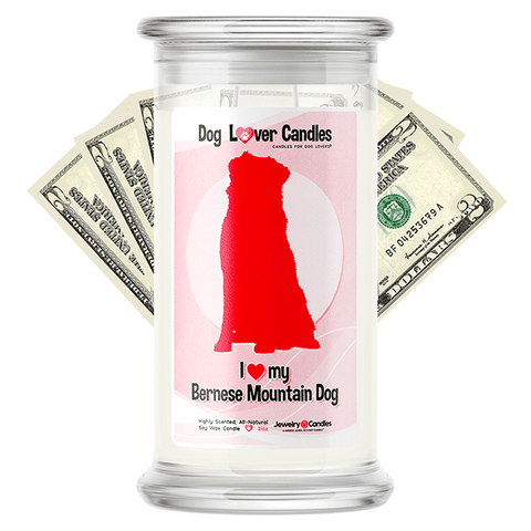 Bernese Mountain Dog Dog Lover Cash Candle
