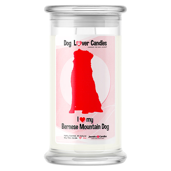 Bernese Mountain Dog Dog Lover Candle