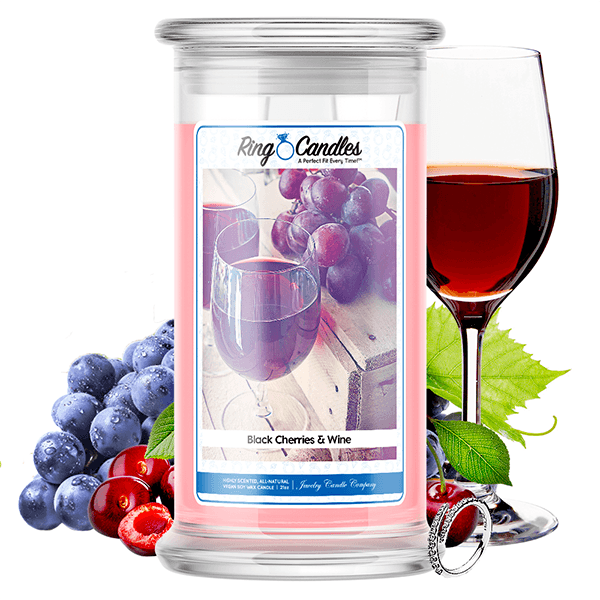 Black Cherries & Wine Ring Candle