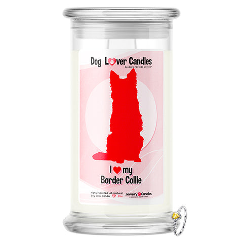Border Collie Dog Lover Jewelry Candle