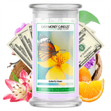 Butterfly Kisses Cash Money Candle
