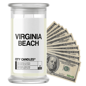 Virginia Beach | City Cash Candle®-City Cash Candles®-The Official Website of Jewelry Candles - Find Jewelry In Candles!