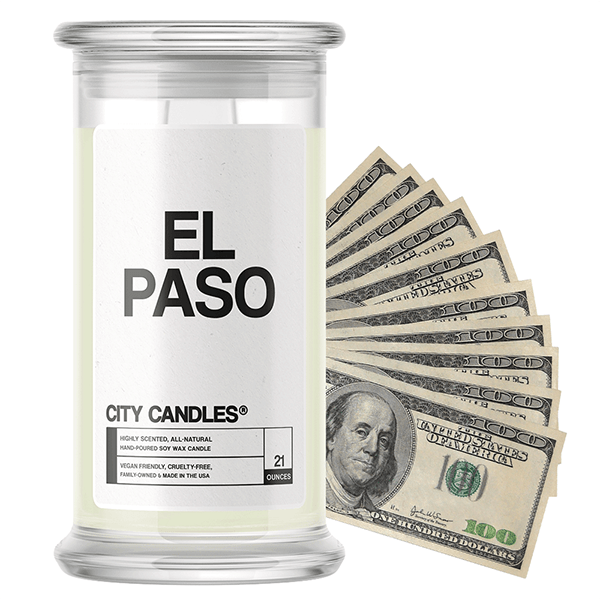 El Paso | City Cash Candle®-City Cash Candles®-The Official Website of Jewelry Candles - Find Jewelry In Candles!