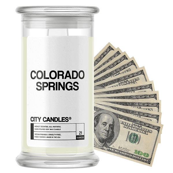 Colorado Springs | City Cash Candle®-City Cash Candles®-The Official Website of Jewelry Candles - Find Jewelry In Candles!