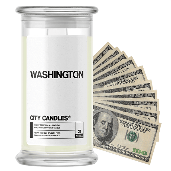 Washington | City Cash Candle®-City Cash Candles®-The Official Website of Jewelry Candles - Find Jewelry In Candles!
