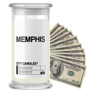 Memphis | City Cash Candle®-City Cash Candles®-The Official Website of Jewelry Candles - Find Jewelry In Candles!