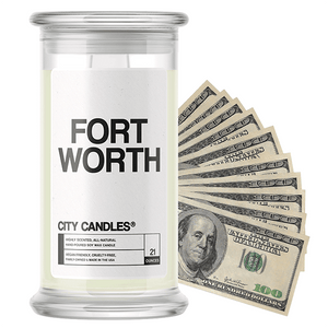Fort Worth | City Cash Candle®-City Cash Candles®-The Official Website of Jewelry Candles - Find Jewelry In Candles!