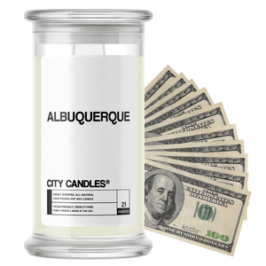 Albuquerque | City Cash Candle®-City Cash Candles®-The Official Website of Jewelry Candles - Find Jewelry In Candles!