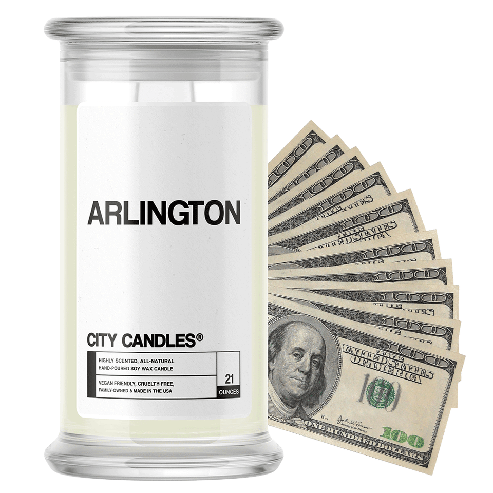 Arlington | City Cash Candle®-City Cash Candles®-The Official Website of Jewelry Candles - Find Jewelry In Candles!